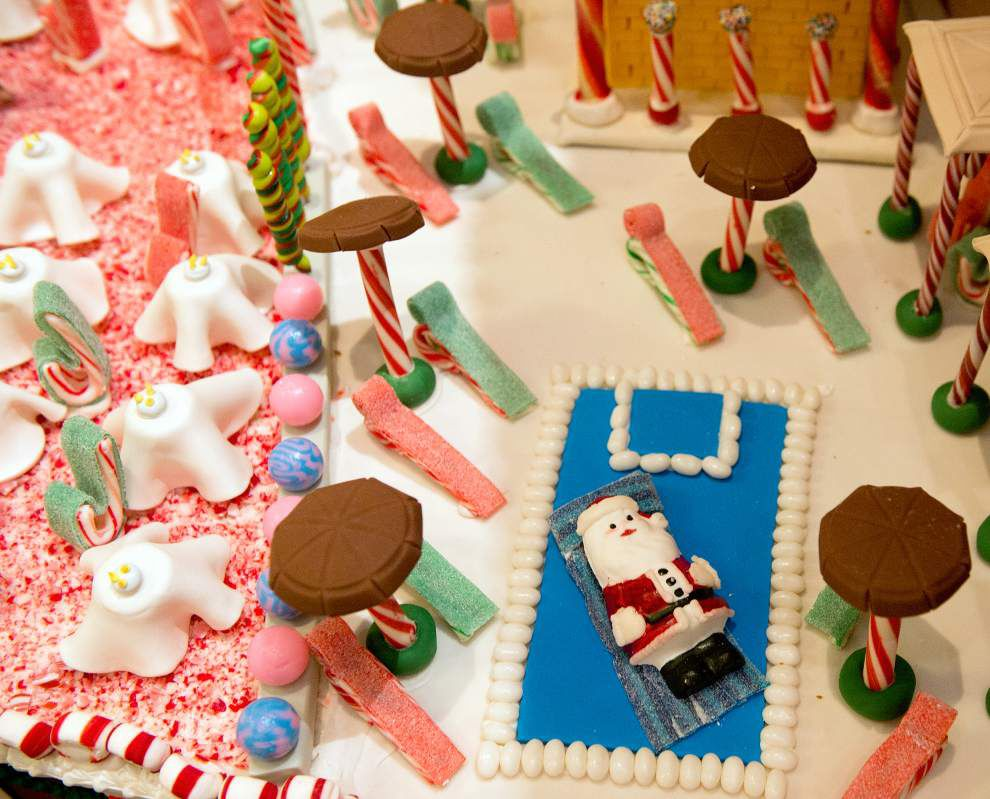 Chef's gingerbread hotel offers all the decorative amenities _lowres