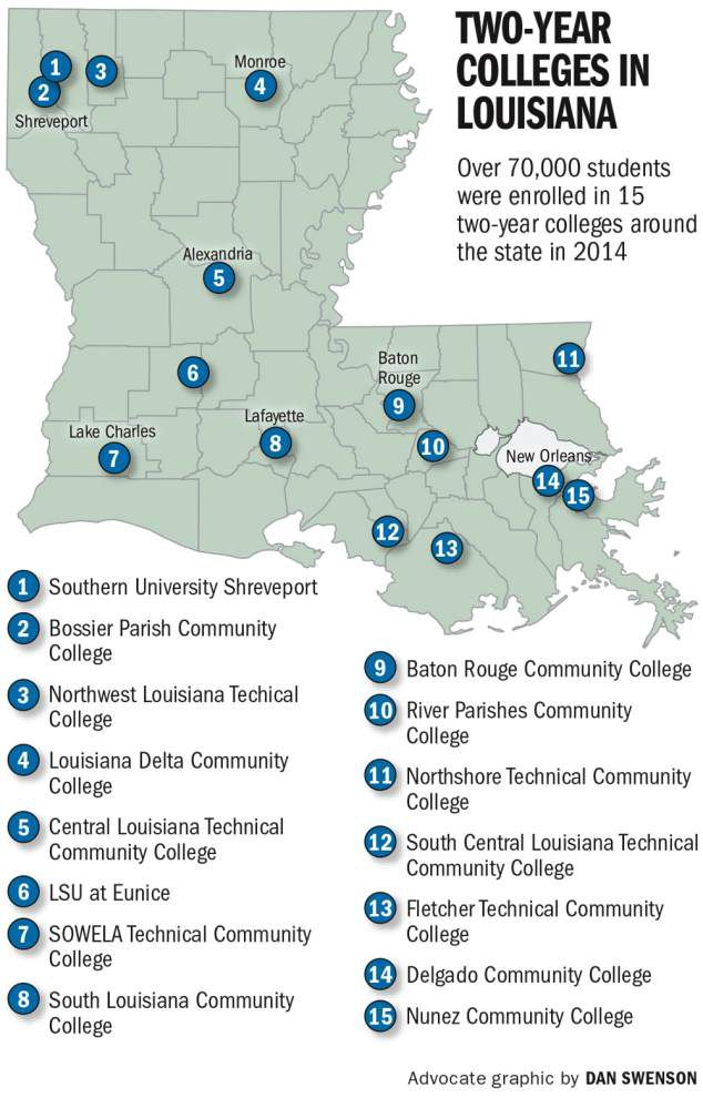 colleges in louisiana map Community And Technical Colleges See Record Breaking Number Of colleges in louisiana map