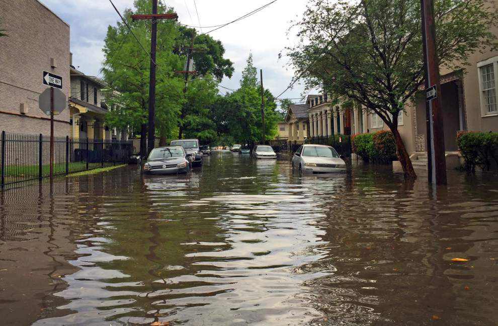 Photos: New Orleans streets turn to streams as storms dump big rain Wednesday afternoon _lowres