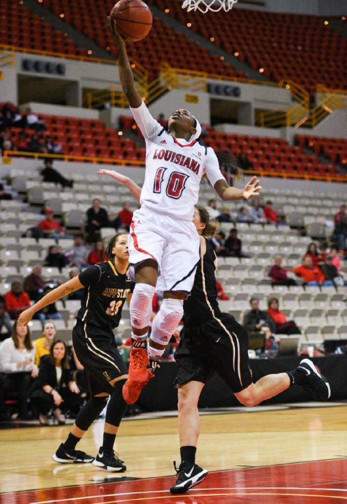 Free-throw line kind to Cajuns women in win over App State _lowres