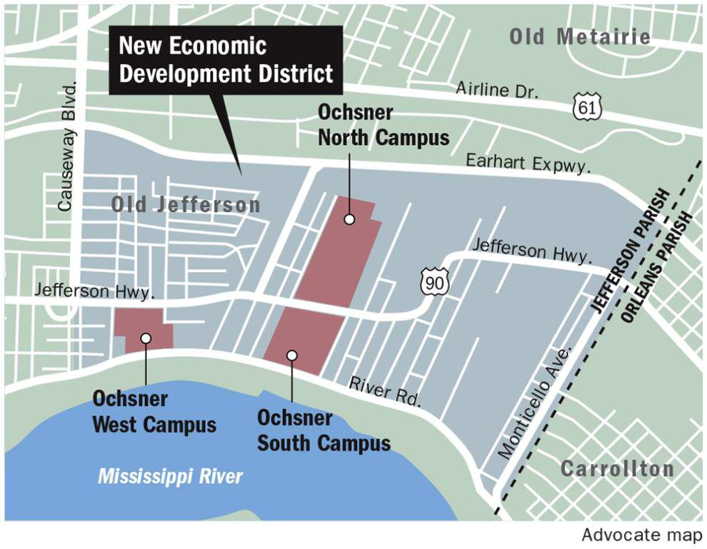 Jefferson Parish to use future sales tax revenue for improvements around Ochsner campuses _lowres