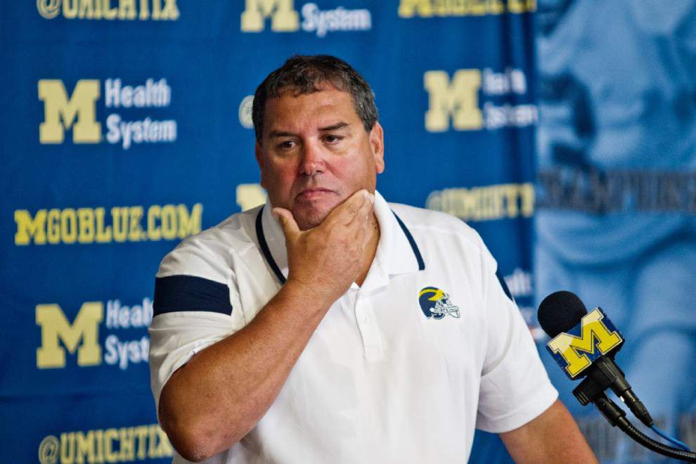 Michigan coach Brady Hoke appears safe ... for now _lowres