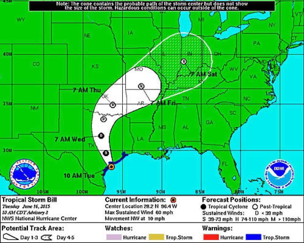 Update: Tropical Storm Bill makes landfall on Texas coast _lowres