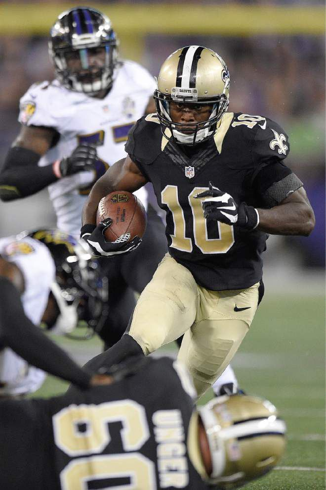 Catch him if you can: Saints wide receiver Brandin Cooks keeps turning heads in camp _lowres