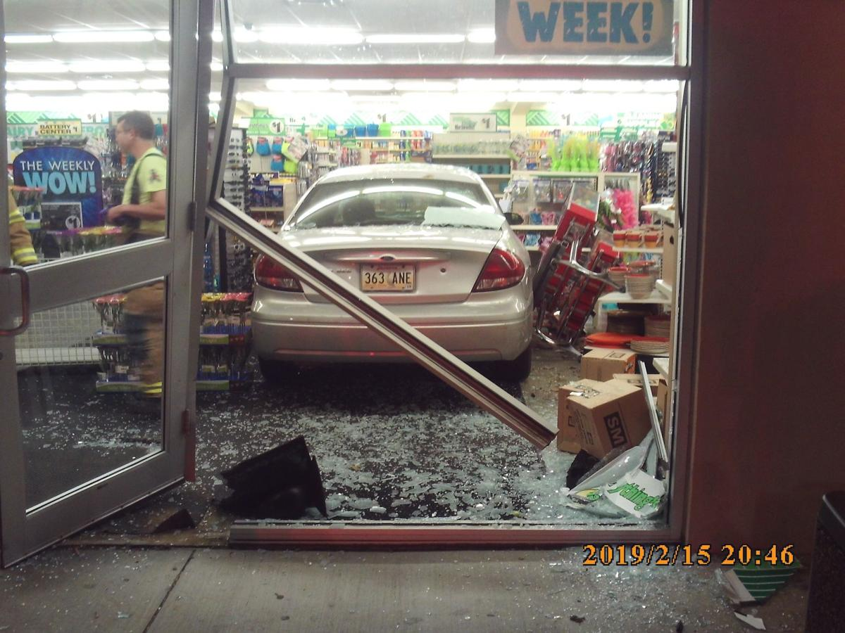Car crashes into Dollar Tree in Broussard