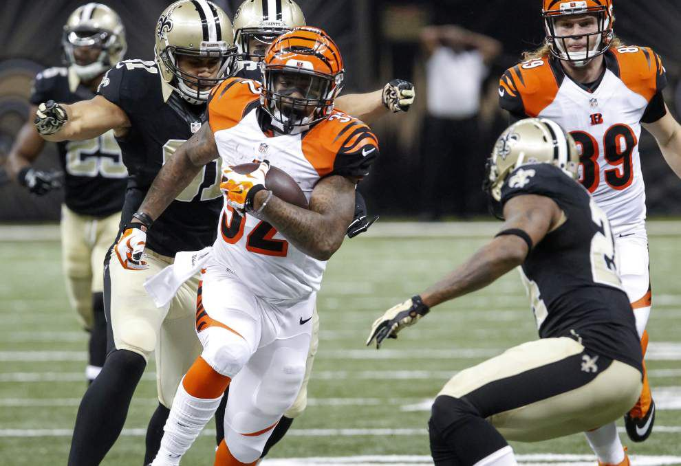 Live updates during the Cincinnati Bengals at New Orleans Saints game _lowres