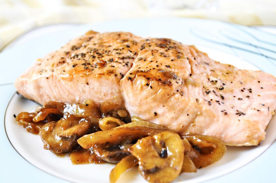 Marsala wine gives salmon a sophisticated flair