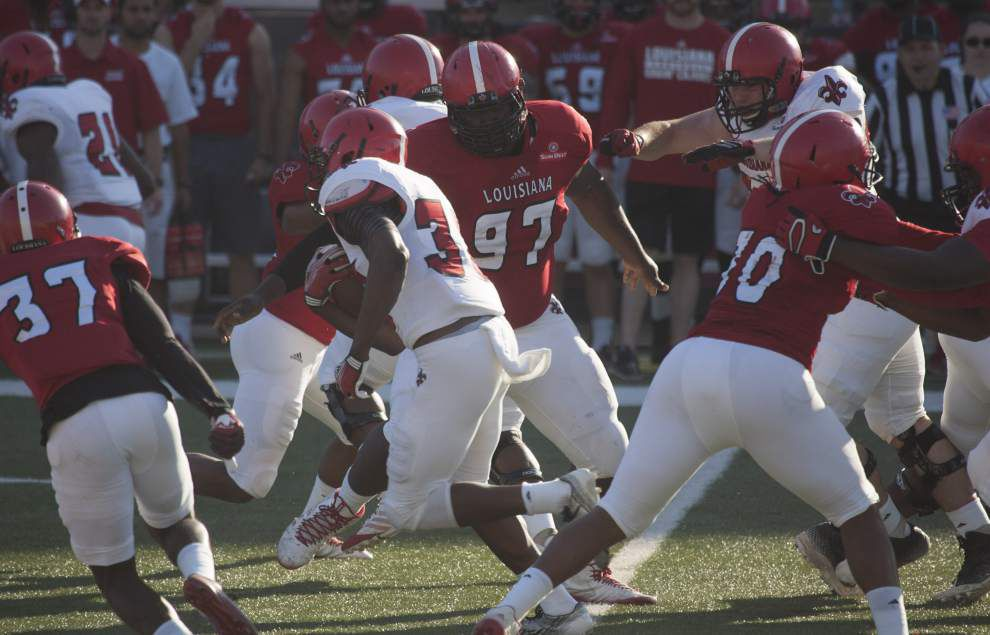 Mark Hudspeth lauds Cajuns' effort in spring game, which he deems (with a grin) a 17-17 tie _lowres
