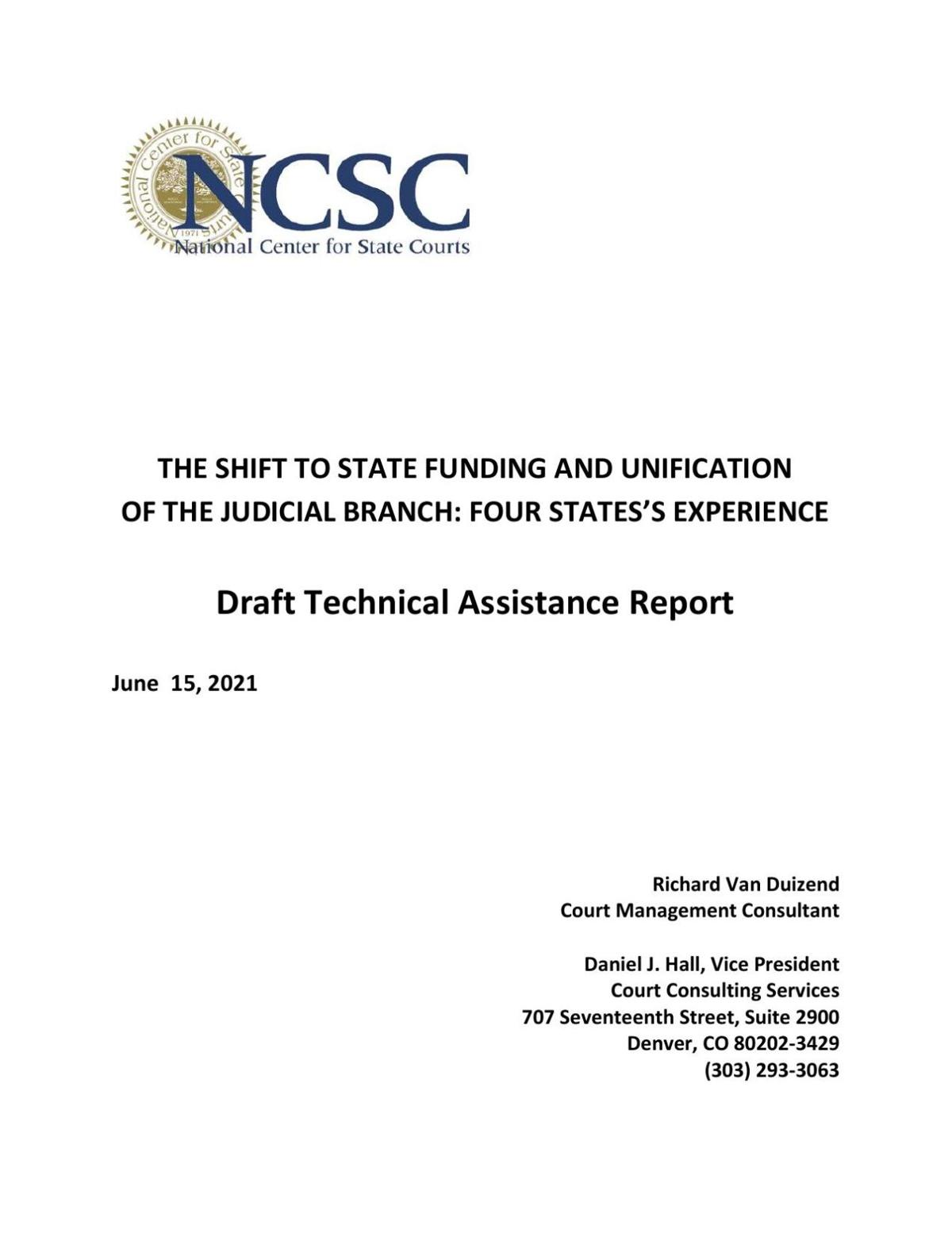 National Center for State Courts draft report