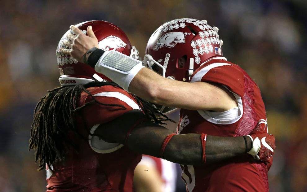 Brett Bielema is Boss Hog after Arkansas tramples LSU 31-14 _lowres