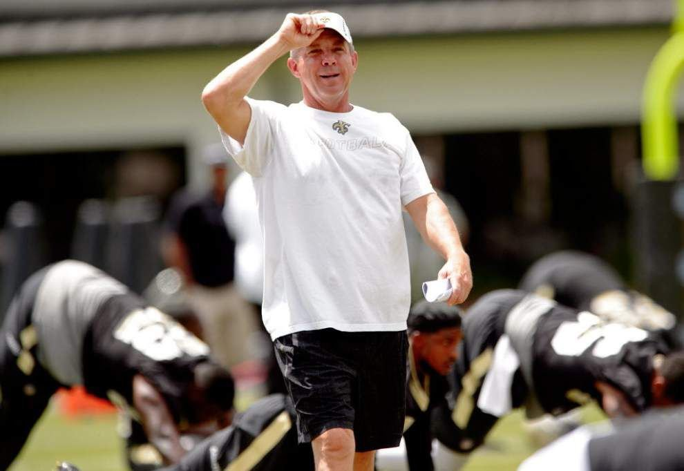 Saints coach Sean Payton talks about the two things he loves about the team's training camp at The Greenbrier _lowres