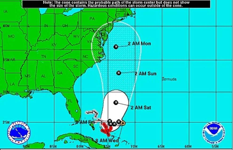 Hurricane Joaquin gains strength near the Bahamas, projected to threaten East Coast next week _lowres