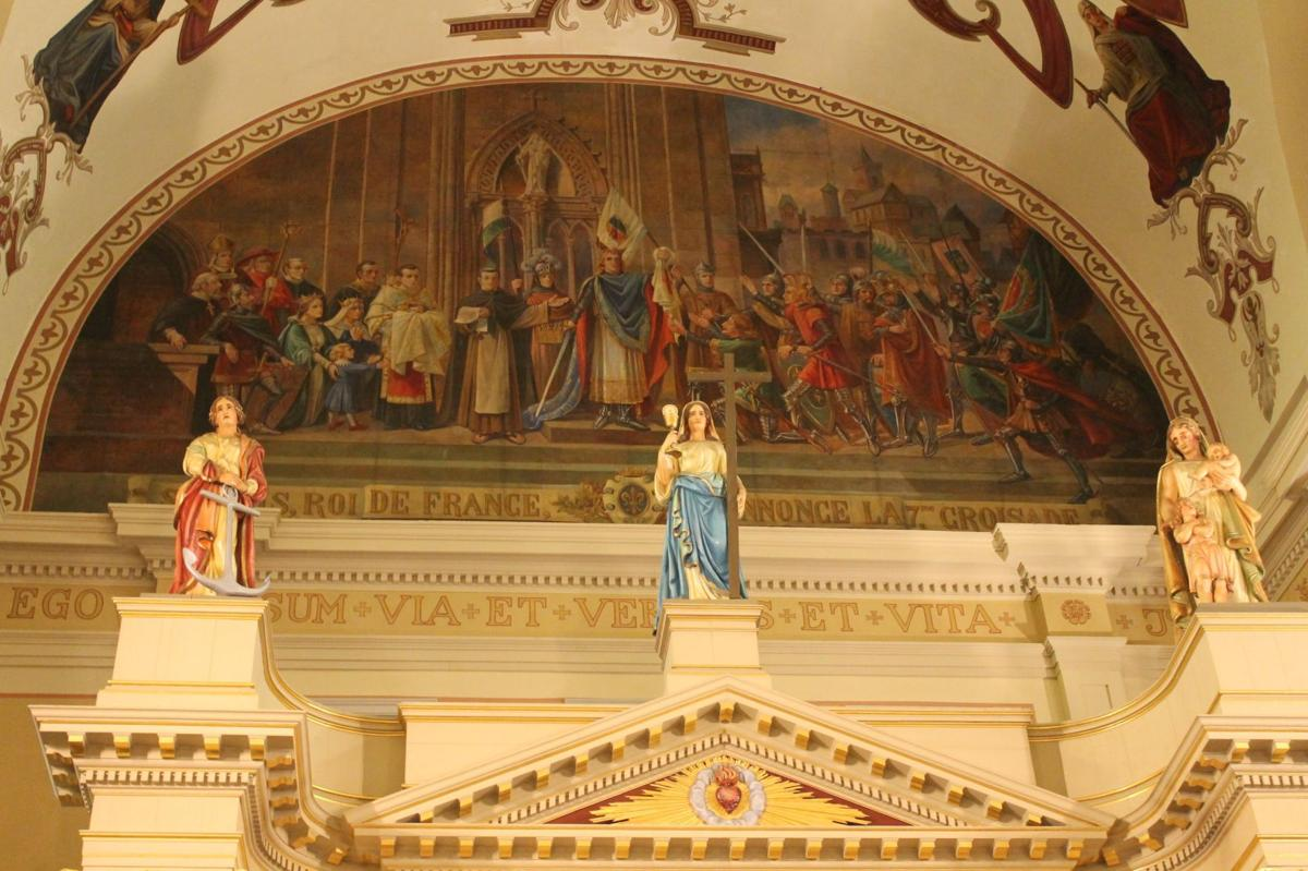 Blake Pontchartrain: the statues inside St. Louis Cathedral_lowres