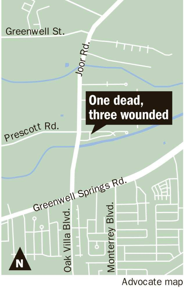 Two men sought in fatal shooting Wednesday night in Baton Rouge that also left three wounded _lowres