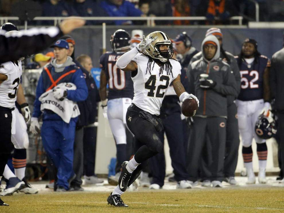 After snagging two interceptions vs. Bears, Saints safety Pierre Warren: I was brought back for takeaways _lowres