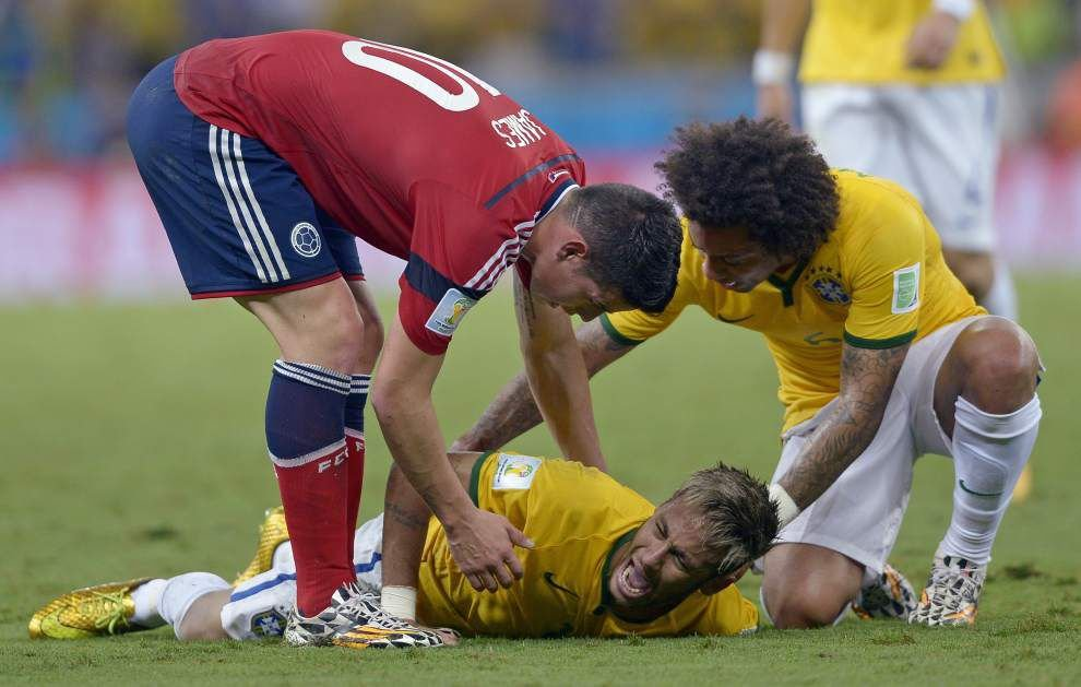 Brazil loses Neymar but beats Colombia to reach World Cup semifinals _lowres
