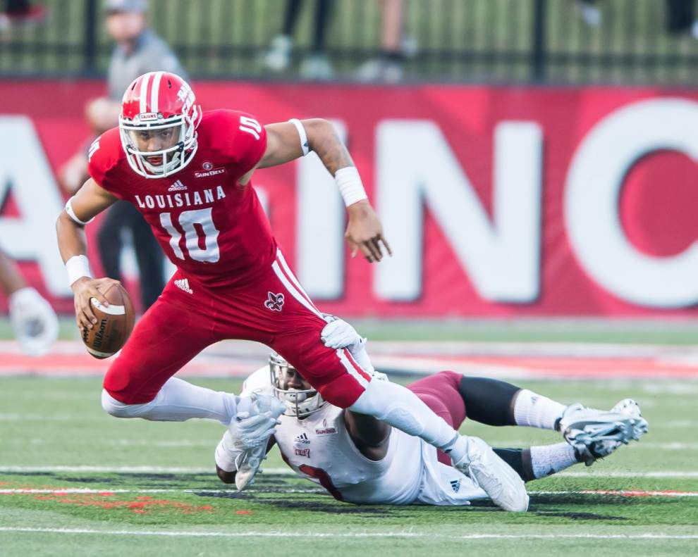 Time to learn: Ragin' Cajuns quarterback Jordan Davis is a work in progress at spring practice, but there's a whole lot to like _lowres