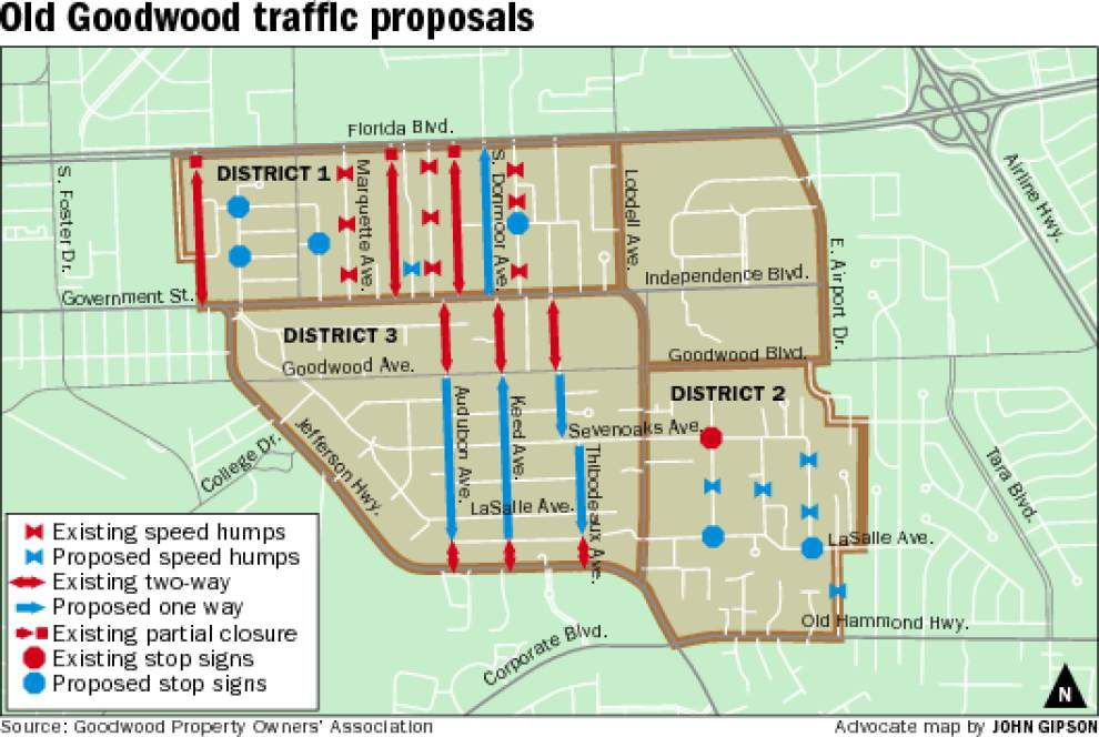 Goodwood residents divided on first-of-its-kind plan to ease congestion, reduce speeding in neighborhood _lowres
