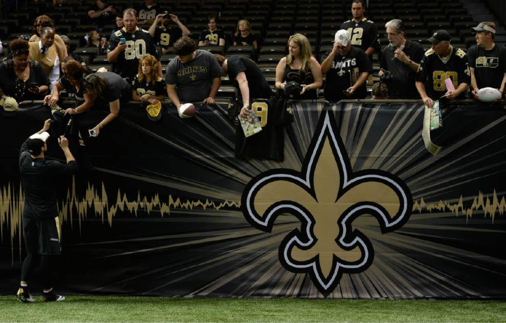 The Saints have nearly everyone available for the game against the Ravens _lowres