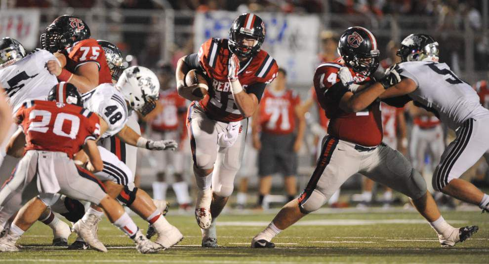 Teurlings Catholic's Cole Kelly passes, runs Rebels past St. Thomas More 42-28 in key District 4-4A game _lowres