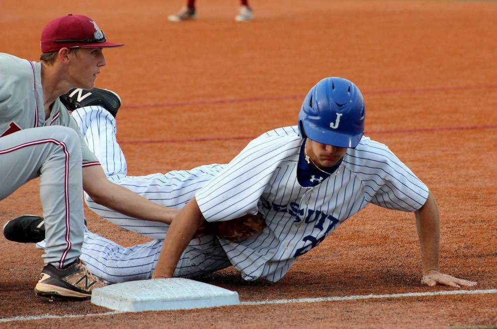 Jesuit rides Brandon Briuglio's five-hitter, stout defense for 1-0 win over Destrehan _lowres