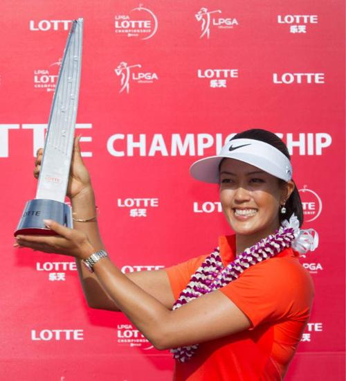 Michelle Wie wins LPGA event at home _lowres