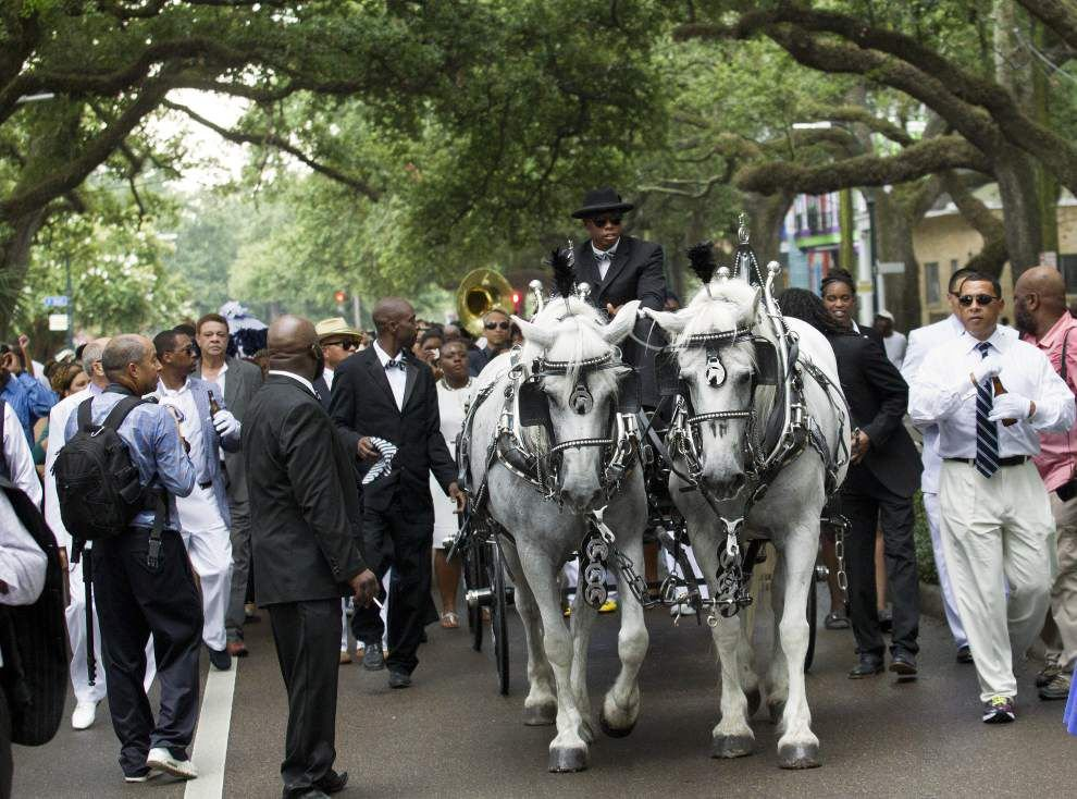 'Exactly what he would have wanted': Funeral home owner Armand Charbonnet buried in style _lowres