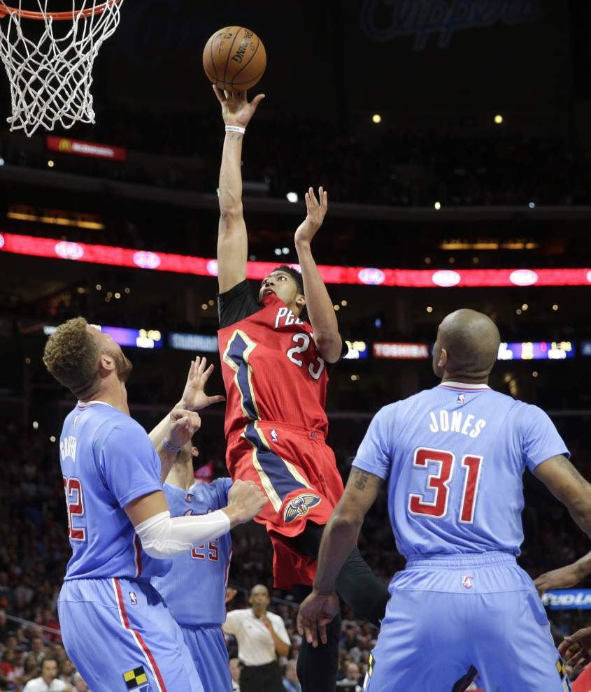 Anthony Davis' return isn't enough for the Pelicans, who fall 107-100 to the host Clippers _lowres