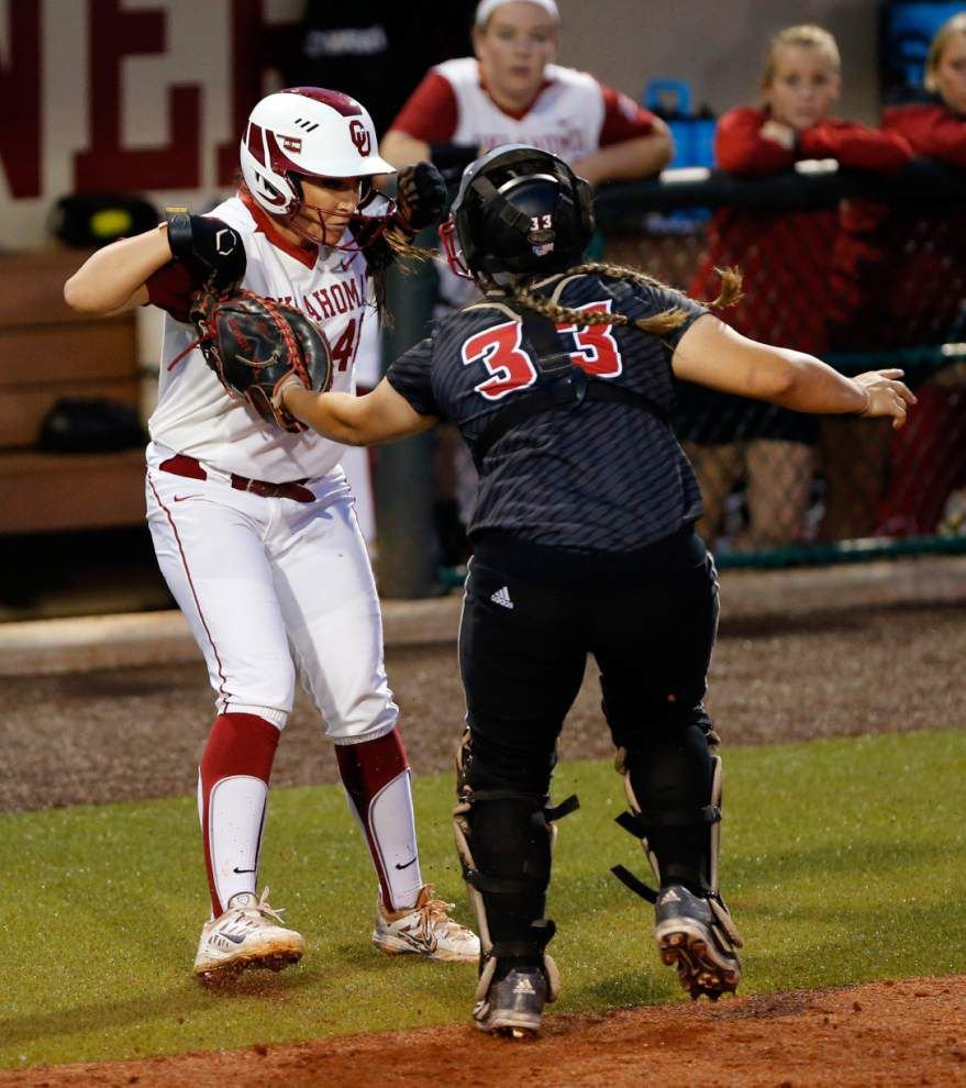 UL-Lafayette softball team hits pair of homers, but that's not enough as Oklahoma prevails 8-2 _lowres