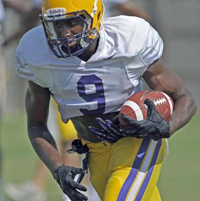 Notebook: LSU receivers playing inside and out under offensive coordinator Cam Cameron _lowres