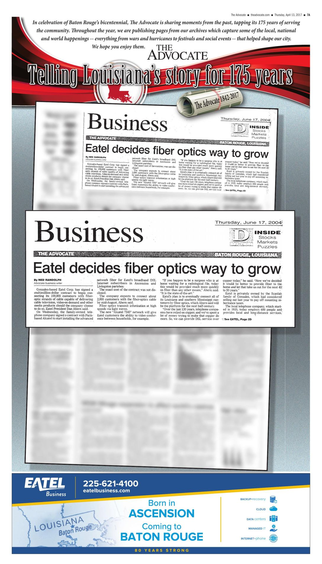 Eatel decides fiber optix way to grow