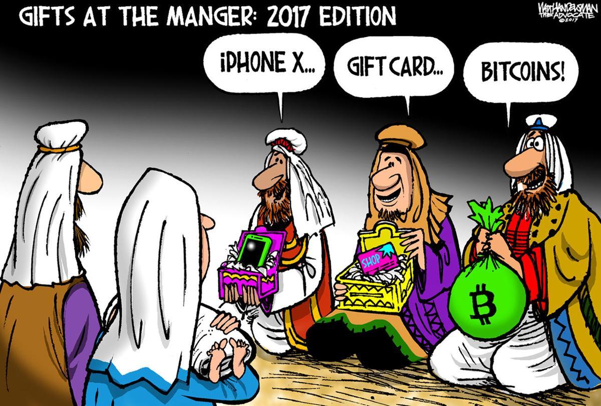 Walt Handelsman: 2017 Gifts at the Manger