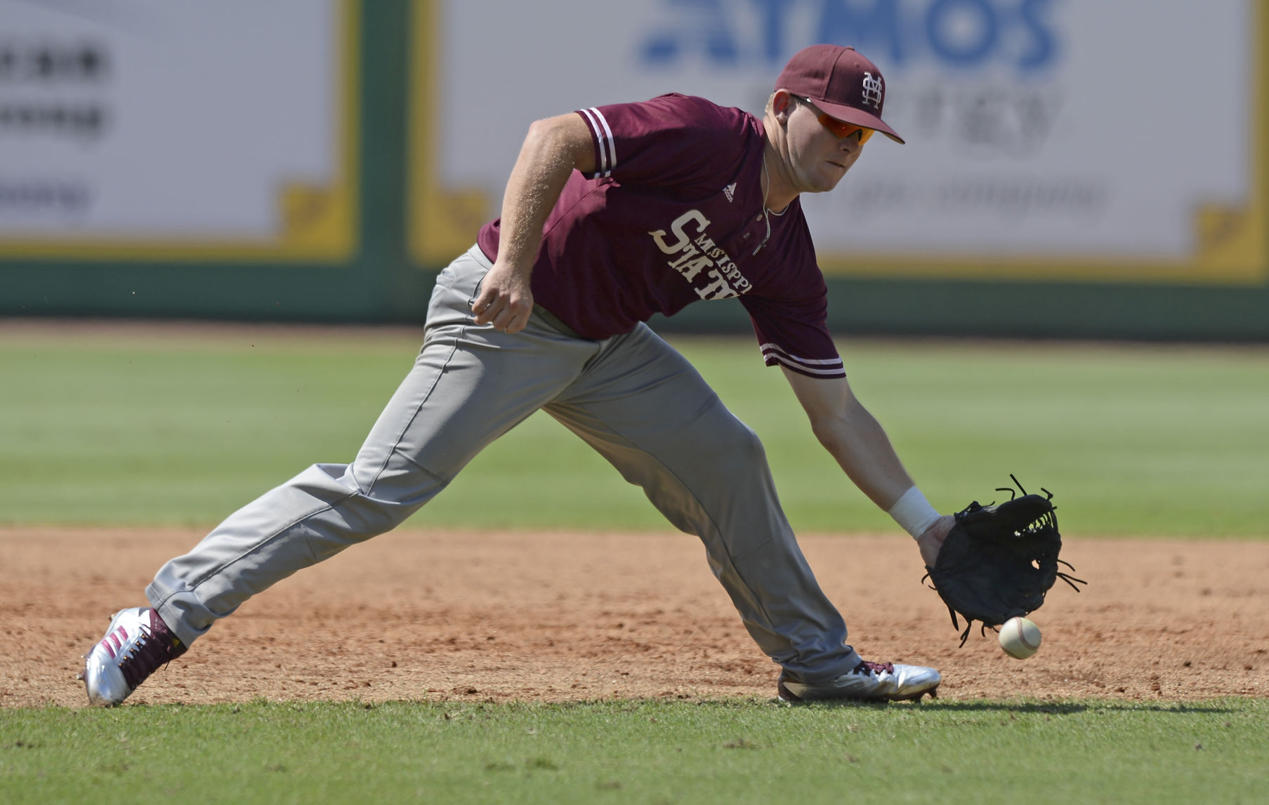 Davidson infielders collide on pop fly to give Texas A&M 2 runs