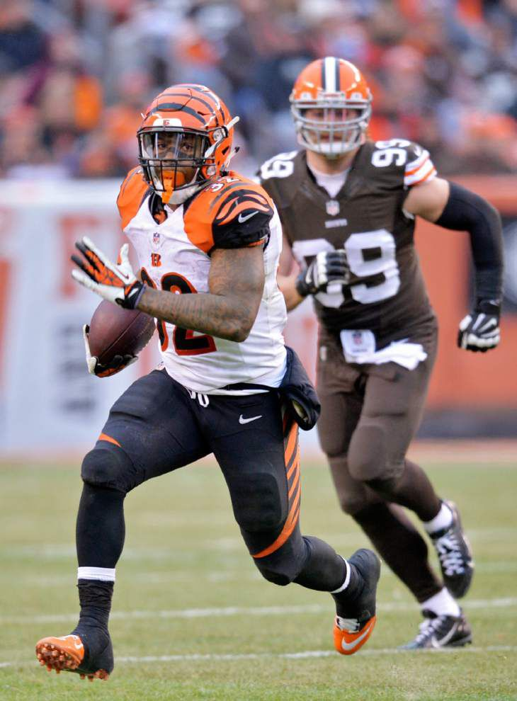 Bengals rough up Johnny Manziel in first start _lowres