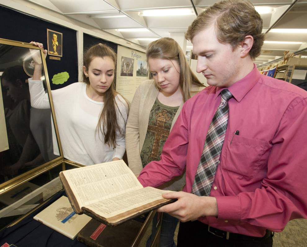 SLU puts rare books, documents on display _lowres