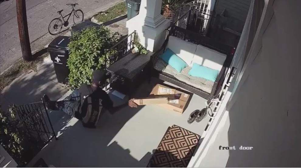 Video: NOPD seeks help identifying man who stole package from Uptown porch _lowres