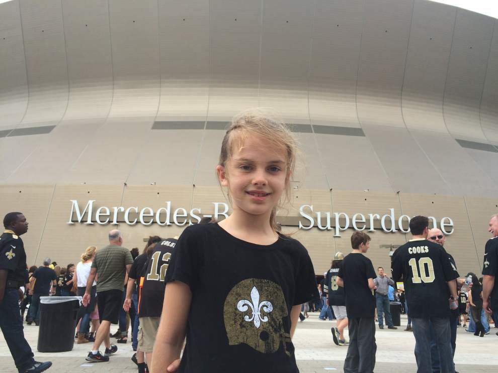 Sophie and the Saints: Father and daughter bond at a 'meaningless' game _lowres
