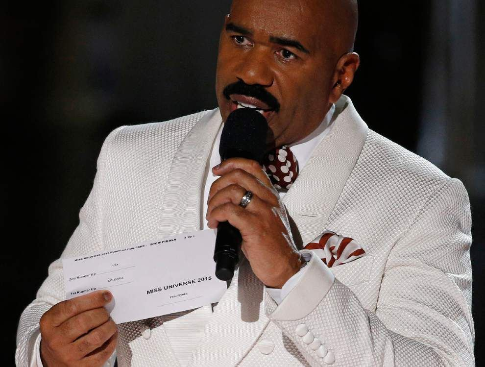 Video of Steve Harvey's 'horrible mistake,' him crowning wrong Miss Universe on live TV _lowres