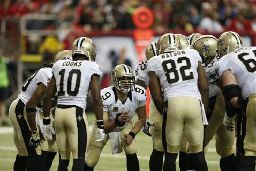 Report: Saints quarterback Drew Brees will not need surgery on foot in offseason _lowres