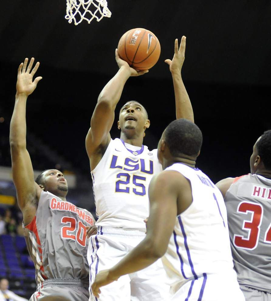 LSU uses strong second half to get past Gardner-Webb 93-82 _lowres