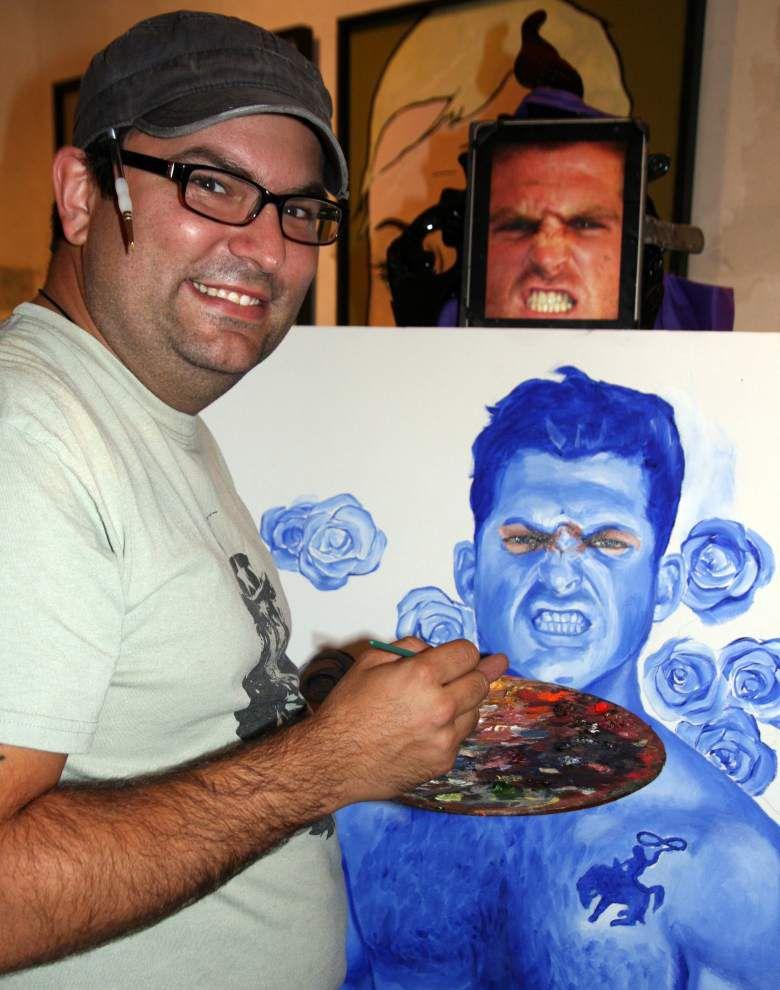 N.O. police officer-artist suspended over crime-scene blood writing _lowres