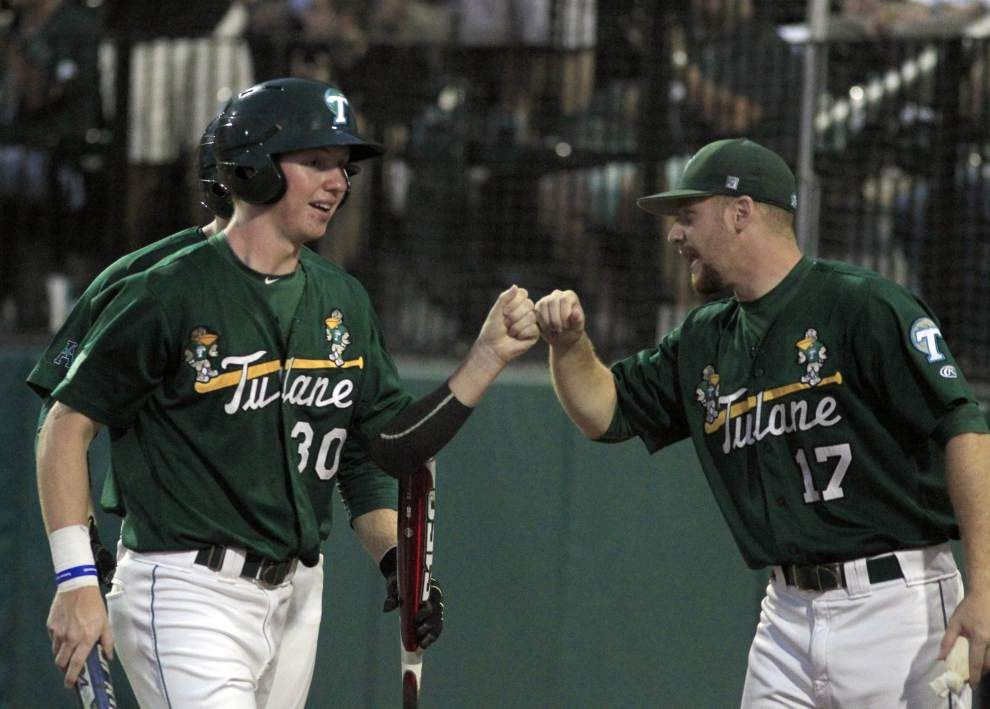 'I kind of blacked out': Tulane exits wet, wild weekend in Houston with the AAC baseball title _lowres