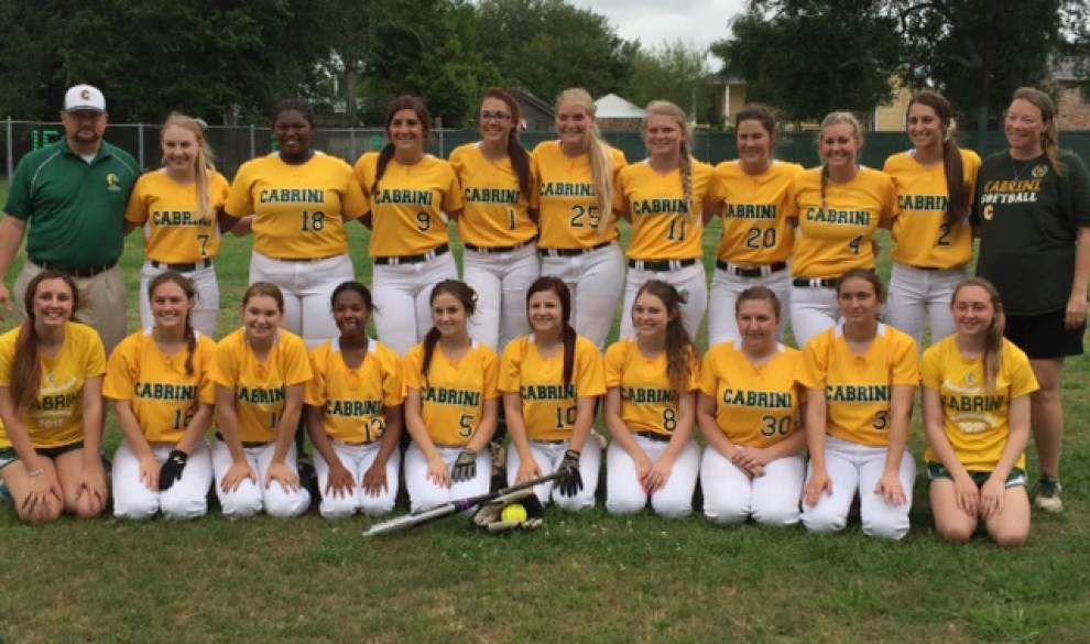 Cabrini High School softball team reaches state semi-finals _lowres