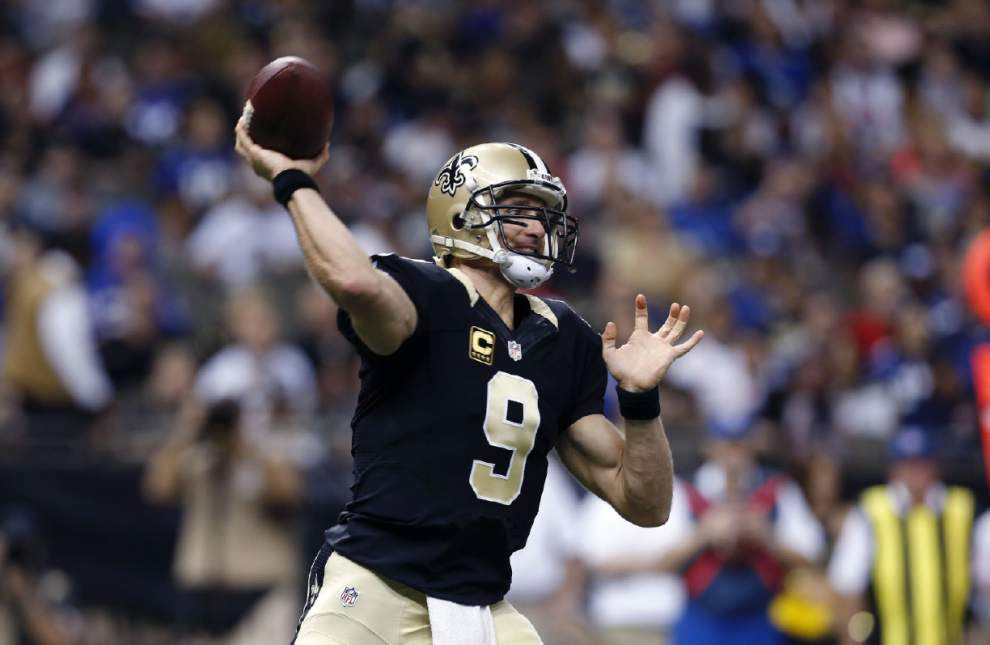 Drew Brees 'day by day' as Saints determine risks of foot injury; Matt Flynn on deck? _lowres