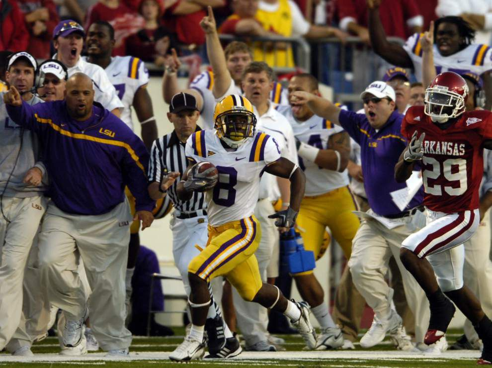 LSU vs. Arkansas: Y.A Tittle's coldest game ever, a 3OT upset in 2007 and Trindon Holliday's 2006 heroics _lowres