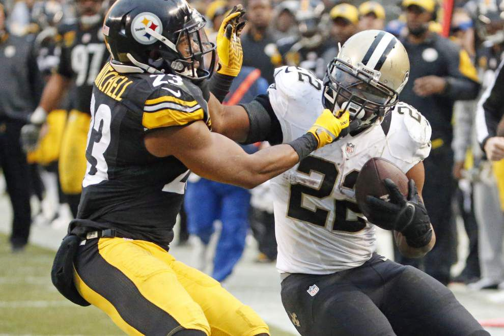 Saints running back Khiry Robinson says he will be back on the field for the Carolina Panthers game _lowres