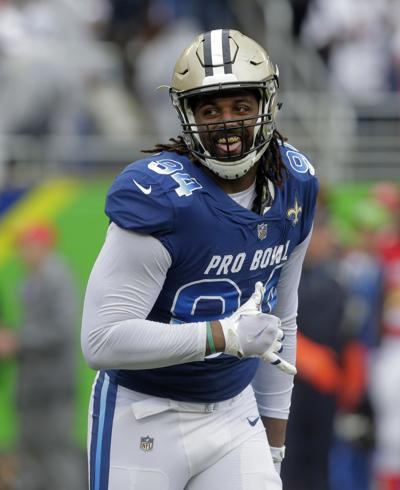 1736fc898 Pro Bowl Football. New Orleans Saints defensive end Cameron Jordan ...