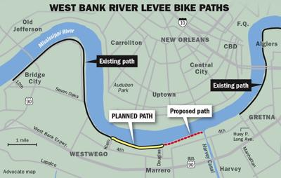 Levee bike path extension between Westwego and Marrero in the works ...