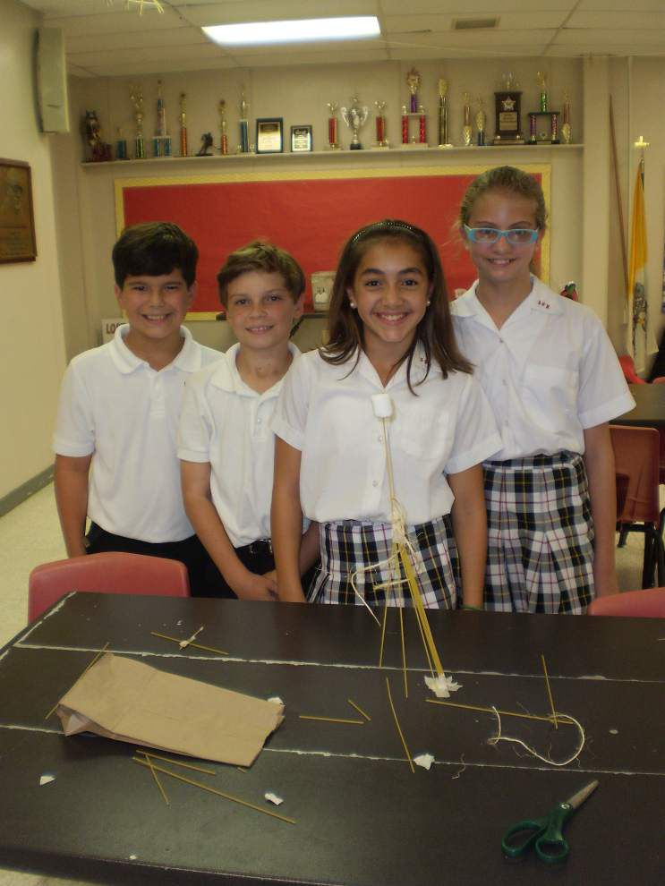Marshmallow challenge builds collaborative skills at Metairie school _lowres