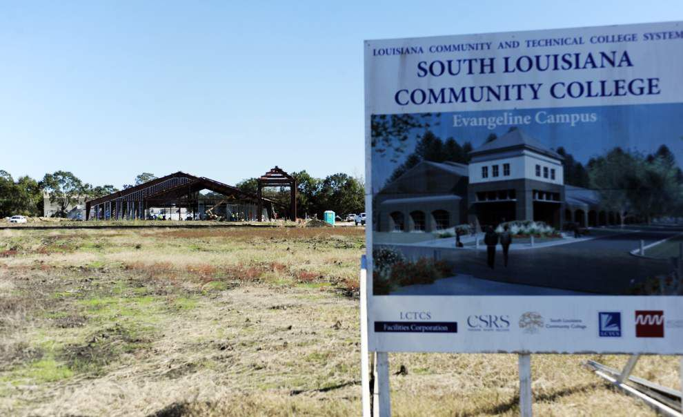 Construction continues on South Louisiana Community College's St. Martinville site and to begin soon on the health sciences building in Lafayette _lowres
